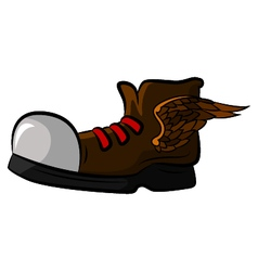 Shoe with wings for your design vector