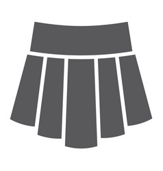 skirt glyph icon clothing and female girl cloth vector image