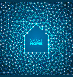 Smart house abstract background vector