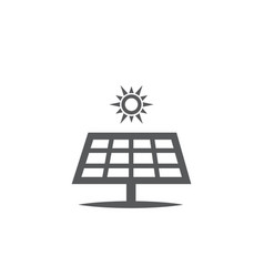 solar panel icon on white background vector image