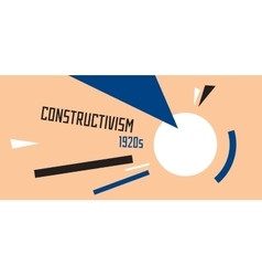 Soviet constructivism abstract vector