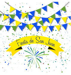 spanish fiesta de san juan vector image