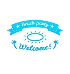 Summer sign retro typography sea and beach logo vector image