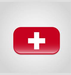 Switzerland flag design vector