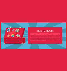 time to travel suitcase poster vector image