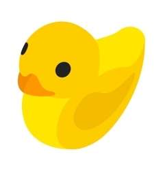 Toy duck isometric 3d icon vector image