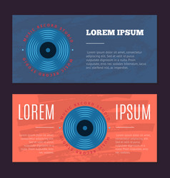 Vintage flyers with sound record studio vector