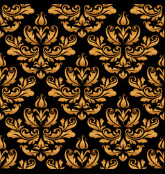 vintage gold damask pattern vector image