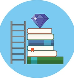 Way to knowledge wealth concept Flat design Icon vector image