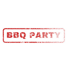 bbq party rubber stamp vector image