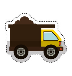 dump truck isolated icon vector image