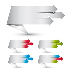 Origami paper style banners vector image vector image