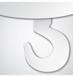 Paper cut crane hook vector image vector image