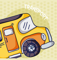 school bus over colorful background vector image