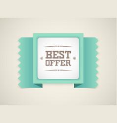best offer vector image vector image