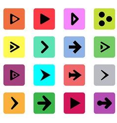 Black arrow sign template button symbol vector image vector image