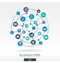 Business connection concept Abstract background vector image vector image
