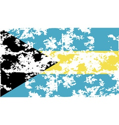 Flag of Bahamas with old texture vector image