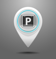 Glossy Parking Icon vector image