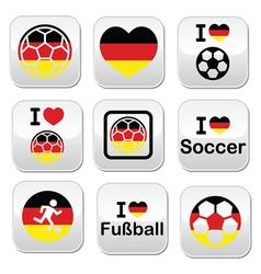 I love German football soccer buttons set vector image vector image