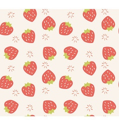 Seamless pattern with hand drawn strawberry fruit vector image vector image