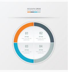Circle presentation template orange blue gray vector