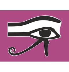 Egyptian Eye of Horus - ancient religious symbol vector image vector image