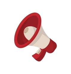 Megaphone icon cartoon style on white vector image vector image