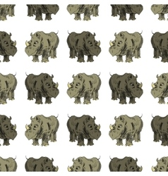 Seamless African Rhinoceros Animal Pattern vector image vector image