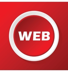 WEB icon on red vector image