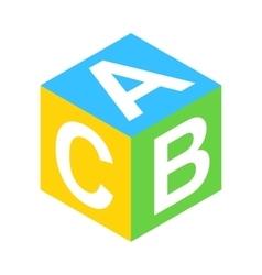 ABC block isometric 3d icon vector image