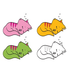 Cute cartoon cats vector image vector image