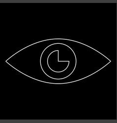 eye the white path icon vector image vector image