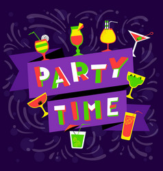 party time lettering nightclub invitation vector image vector image