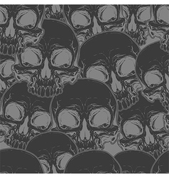 Seamless cool black skull tattoo pattern vector image