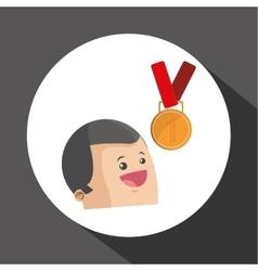 Winner design Success concept Flat vector image