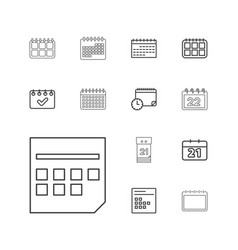 13 month icons vector