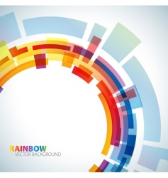 abstract background with rainbow vector image