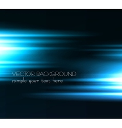 Abstract dark background with blue color light vector image