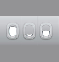 aircraft windows airplane indoor portholes plane vector image