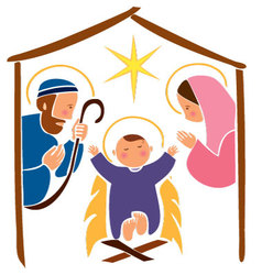Baby Jesus in a manger 7 vector image