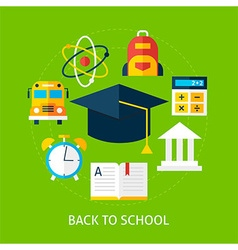 Back to School Flat Concept vector image