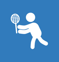 Badminton player in action logo - super lightning vector
