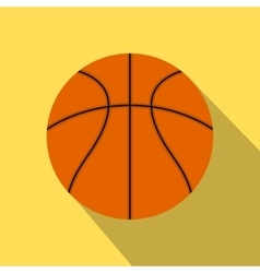 Basketball ball flat icon vector image