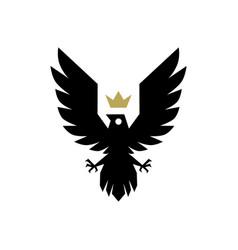 bird crown logo icon vector image