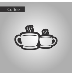 Black and white style cups coffee vector