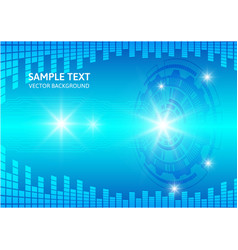 Blue abstract background digital technology vector