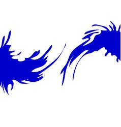 Blue-blot-paint-one vector