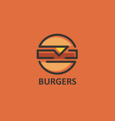 burgers fast food cheeseburger hot dog business vector image