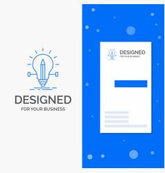 business logo for bulb creative solution light vector image